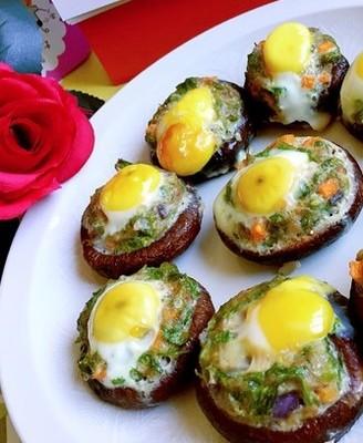 烤香菇鹌鹑蛋