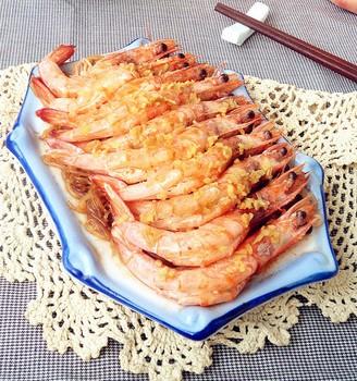 姜蓉粉丝蒸大虾
