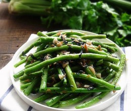 紫苏虾米炒豆角