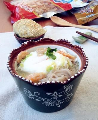 鸡蛋荞麦面汤
