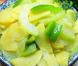 土豆炒冬瓜