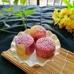 #霸王超市#紫薯馅三色冰皮月饼