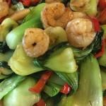 虾仁烧油菜