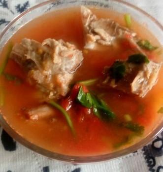 鸭骨柿子汤