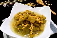 苦瓜焖黄豆