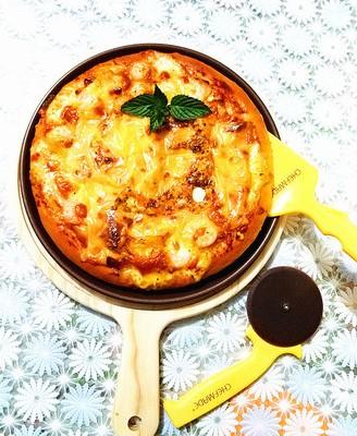 培根虾仁披萨