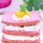 火龍果蛋糕  寶寶輔食食譜