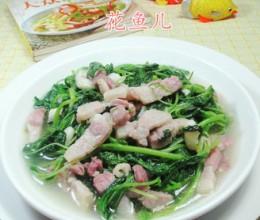 咸肉炒白米苋