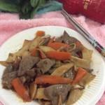 羊肝炒杏鲍菇