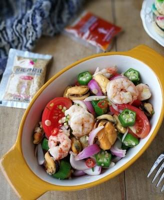 海鲜蔬菜沙拉