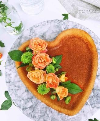 海绵心形蛋糕