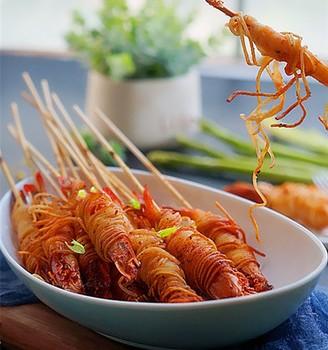霸王超市丨金丝虾串