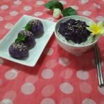紫薯饭团+紫薯白米饭