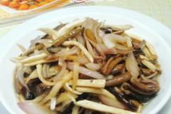 洋葱茭白炒鳝丝