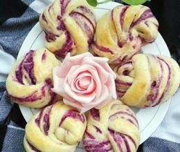 紫薯花形面包