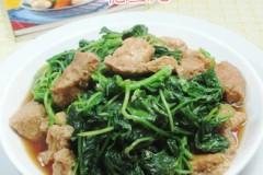 素鸡炒白米苋