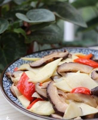 茭白炒香菇