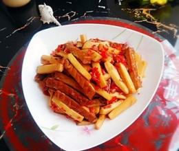 杏鲍菇炒熏干