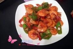青椒炒基围虾