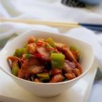 青椒炒回锅猪鼻肉