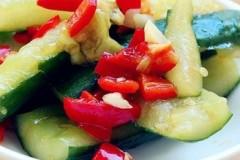红椒拍黄瓜