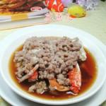 肉末蒸螃蟹