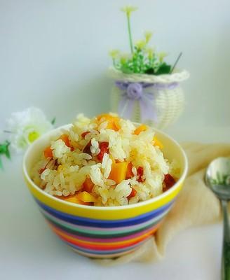 红薯枸杞焖饭
