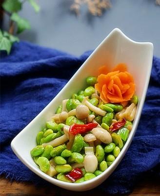海鲜菇蚝油炒毛豆