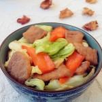 里脊肉炒圆白菜