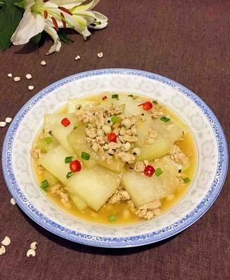 薏米干贝烩冬瓜