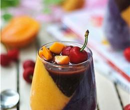 紫薯芒果杯子慕斯