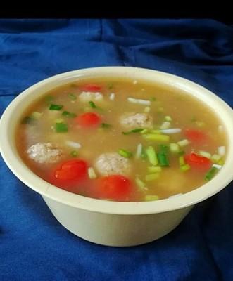 豆腐丸子酥肉汤