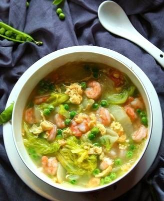 豌豆虾仁烩白菜