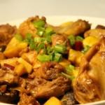 香菇板栗炒鸡