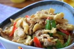 瘦肉炒黄蘑