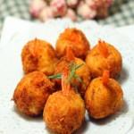 土豆泥虾球
