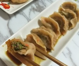 胡萝卜牛肉饺子