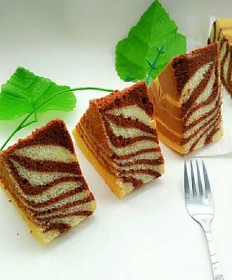 斑马纹戚风蛋糕8寸