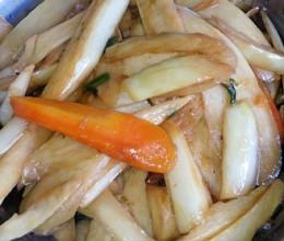 茭白炒胡萝卜