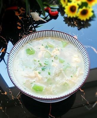 金针丝瓜蛋汤