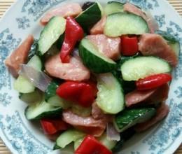 蒜肠炒黄瓜