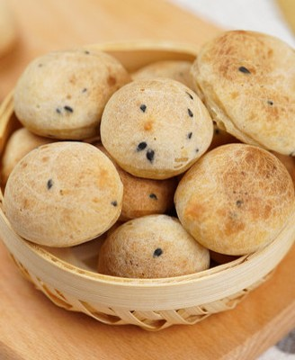 免发酵Q香麻薯面包