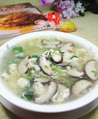 香菇青菜蛋花汤