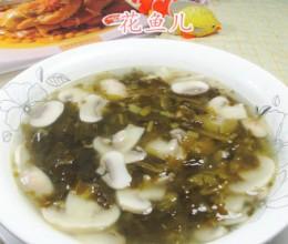 雪菜蘑菇汤