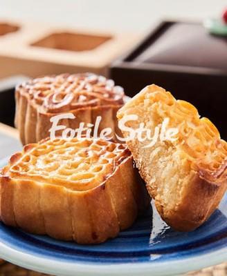 流金奶黄月饼