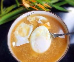 红糖小米鸡蛋粥