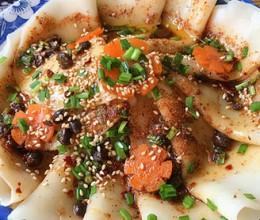 油泼饺子片面儿 #跟热播剧吃遍陕西美味#