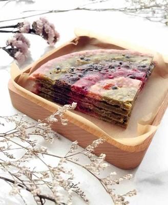 彩色百香果煎饼