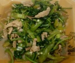 肉炒尖椒香菜