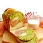 面包机三色吐司(一次发酵)